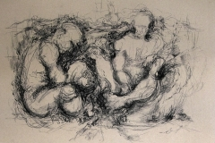 'gemEINSAM', 2003, charcoal on paper