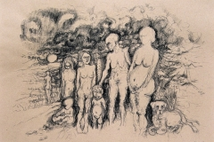 'LEIBESFRÜCHTE', 2003, charcoal on paper