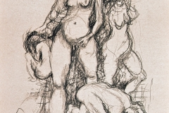 'VIVALAVULVA', 2003, charcoal on paper