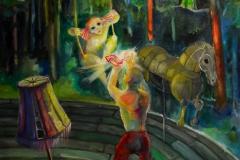 'MÄRCHEN VON DEN ROTEN SCHUHEN', 2014, 100 cm x 80 cm, oil on canvas