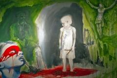 'SEHNSUCHT NACH ORDNUNG SCHAFFEN', 2011 , 200 cm x 300 cm, acrylic on canvas