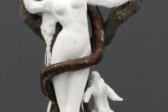 'AN APPLE A DAY...', 2021, clay, porcelain, glaze, 23,5cm x 14,5cm x 14cm