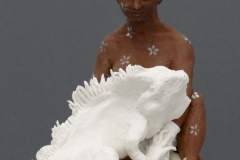 'DRACHENSCHWESTER', 2021, clay, porcelain, concrete