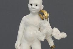 'ENTHAUCHUNG', 2021, porcelain, cernit, gold leaf, 26,5cm x 16,5cm x 16cm