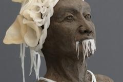'ERINNERUNG ZERFLOSKELT', 2020, clay, cernit, 22cm x 18,5cm x 11,5cm