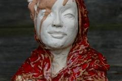 'LAUSCHTRAUM', 2020, 21cm x 20cm x 15cm, glazed ceramic