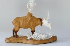 'SEELE  STEPPT', 2020, clay, porcelain, glaze