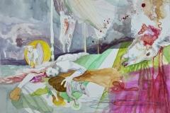 'DER WELT EIN SCHAFSREQUIEM', 2009, 42 cm x 56 cm, watercolor