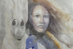 'EPONA', 2021, 30cm x 40cm, watercolor