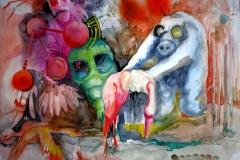 'H5N1', 2016, 46 cm x 55 cm, watercolor