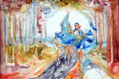 'KINDHEITSWALD', 2013, 42 cm X 56 cm, watercolor