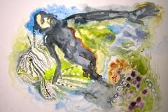 'LASS UNS EIN MEER BEHAUSEN', 2008, 46 cm x 55 cm, watercolor