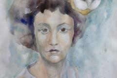 'MINERVA', 2021, 40cm x 30cm, watercolor