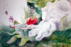'SOMNIONAUTEN', 2016, 42 cm x 56 cm, watercolor