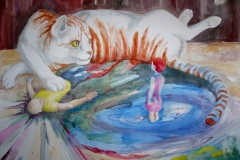'VERHANDLUNGSBASIS', 2016, 42 cm x 56 cm, watercolor