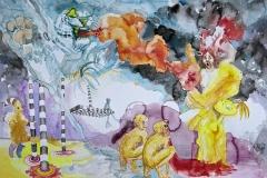 'VOM AUSBLUTEN EINES SOMMERS', 2009, 42 cm x 56 cm, watercolor