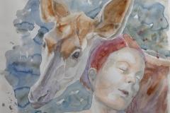 'ZARAFA', 2021, 30cm x 40cm, watercolor