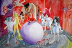 'ZEITGESELLINNEN', 2015, 42 cm x 56 cm, watercolor